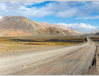 Expedition in the wild nature of the Pamir